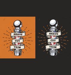 vintage barbershop colorful label vector image