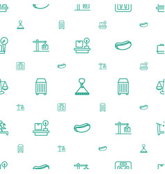 Weight icons pattern seamless white background vector