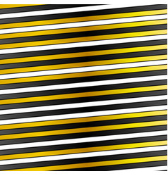 White black and golden stripes design vector image