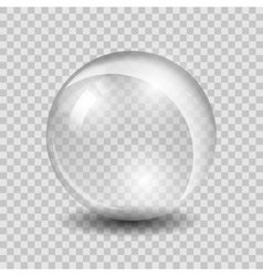 White transparent glass sphere vector