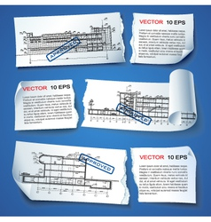 Architecture Plan Options vector image