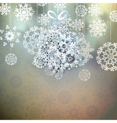 Christmas star made from snowflakes EPS 10 vector image vector image
