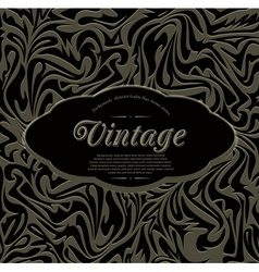 dark vintage abstract background vector image