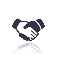 Handshake deal partnership icon vector