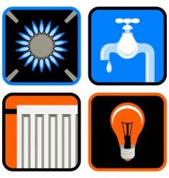public utilities icon set vector image vector image