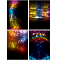 Set of Abstract Rainbow Backgrounds vector image
