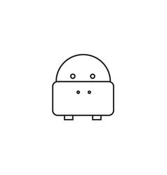 web line icon hippo wild animals vector image