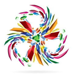 Abstract colourful star for your vector image