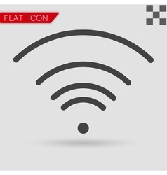 black Wi-Fi Icon Flat Style with red vector image vector image
