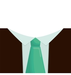 Father day celebration necktie suit card vector