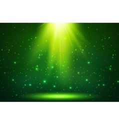 Green magic top light background vector image