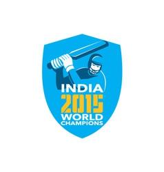 India Cricket 2015 World Champions Shield vector image vector image