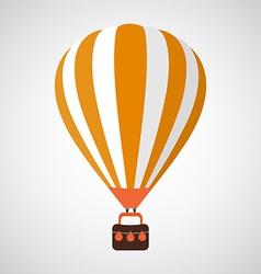 Isolated Cartoon Retro Air Balloon Background vector image