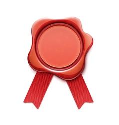 red wax sea vector image