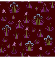 Seamless floral retro pattern of classic style vector image