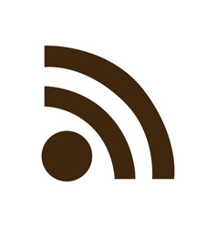 silhouette wifi signal icon flat vector image