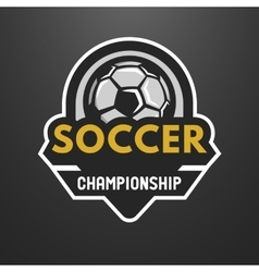 Soccer sports logo label emblem vector image vector image