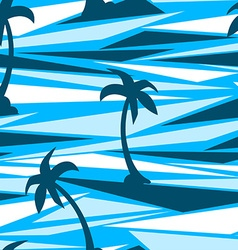 Tropical palm trees on a abstract seamless vector image vector image