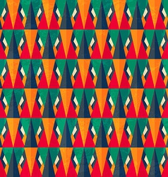 vintage bright triangle seamless pattern vector image vector image