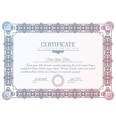 certificate diploma vector image vector image