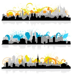 cityscape skyline panorama vector image