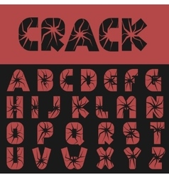 Cracked creative letters vector image vector image