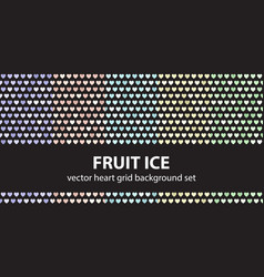 heart pattern set fruit ice seamless vector image vector image