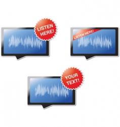 listen here vector image