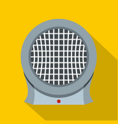 Portable electric heater icon flat style vector