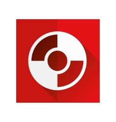 Rescue circle icon vector
