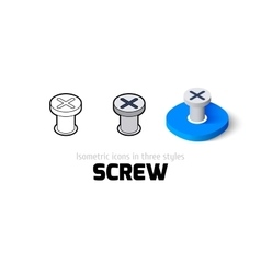 Screw icon in different style vector image
