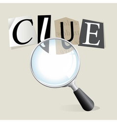 Searching for a clue vector image vector image