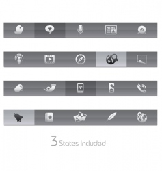 social media bars vector image