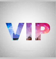 abstract creative concept icon of vip for vector image vector image