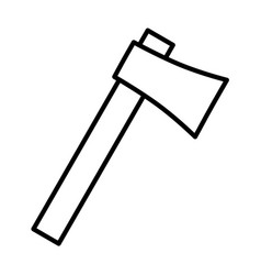 axe thin line icon vector image vector image