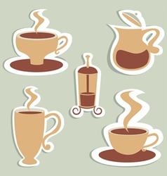 coffee and tea designs vector image vector image