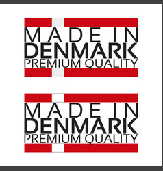 made in denmark icon premium quality sticker with vector image vector image