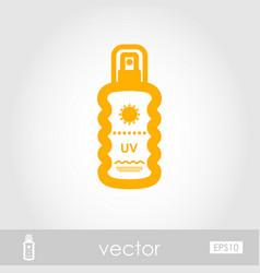 Sun cream in spray outline icon summer vacation vector