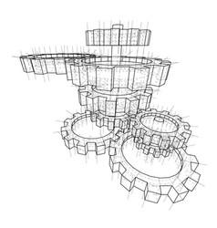 3d gears vector image