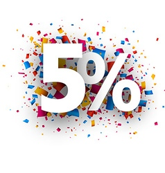 5 sale sign vector image