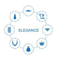 8 elegance icons vector