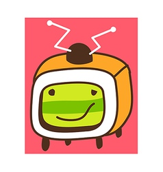 A television vector image
