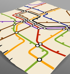 Abstract background of vintage metro scheme vector image vector image