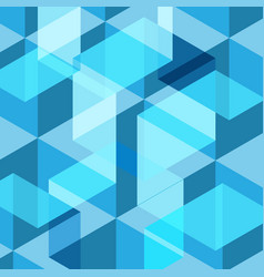Abstract blue geometric template background vector
