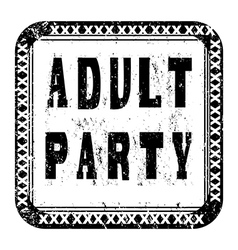 adult party vector image