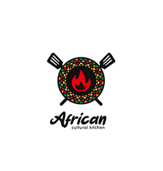 African cultural kitchen food and beverage vector