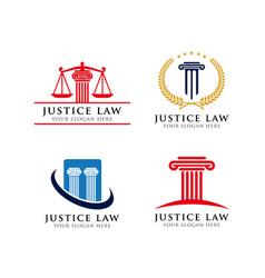 Attorney logo design template icon vector