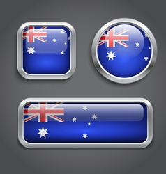 Australia flag buttons vector image