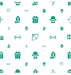 bow icons pattern seamless white background vector image