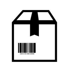 box barcode with serial number vector image